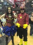 Steampunk!Wonder Woman and The Flash by Aleykat17