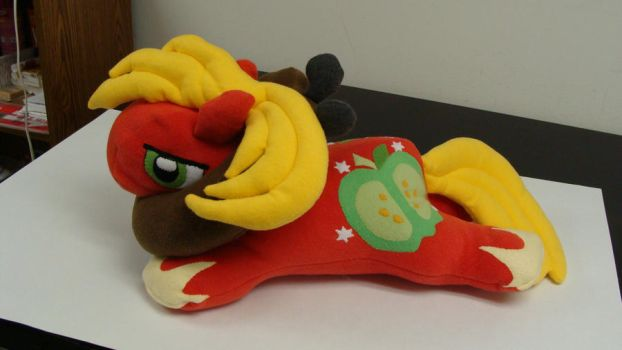 MLP FIM Completed Plush MacIntosh with Harness by StormyNight79
