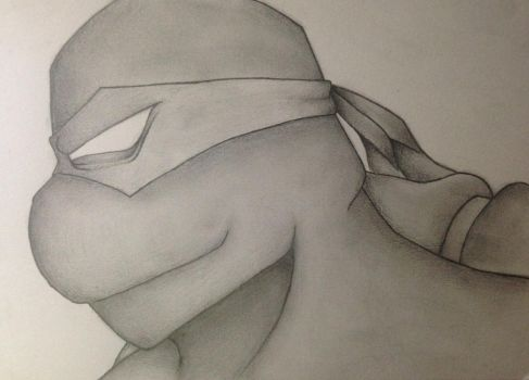 TMNT Black and White by L4Dragon