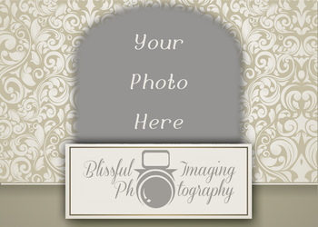 Vintage 5x7 Tan Elegant by BlissfuLLimaging