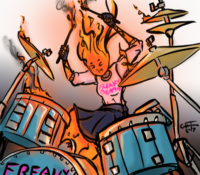 Freaky Beat's Hottest Drummer by colebotman