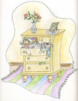 Cat in a Drawer by beckadoodles