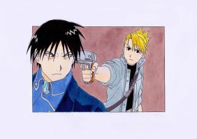 Roy and Riza by MonsterInTheFridge