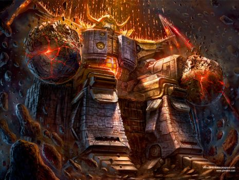 Unicron Destroyer of Worlds by cgfelker