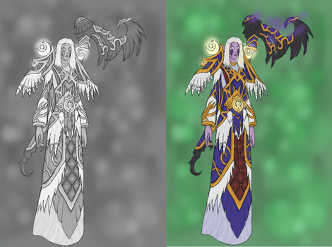 Druid grey and coloured by Majalth