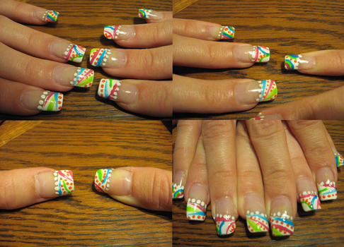 HappyColorfulFunTime Nails by RoxieAngel