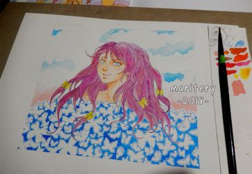:: Butterfly Girl :: Version2 by maritery-san