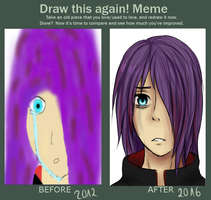 draw this again meme by dinaaw