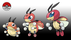 165 - 166 Ledyba Line by InProgressPokemon