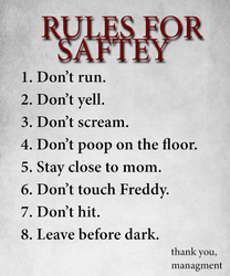 RULES FOR SAFTEY by toasted912