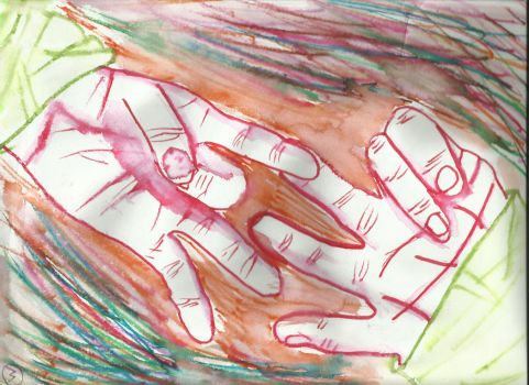 hands by midknife