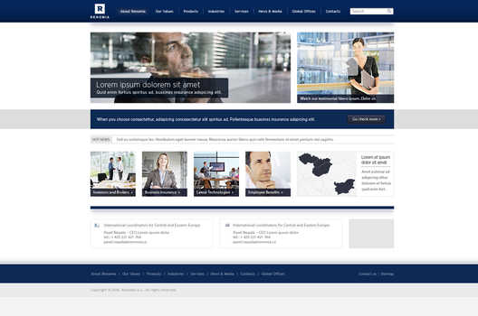Renomia - corporate website 1 by shod4n
