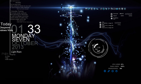 Guilty Crown Rainmeter by blackowlangel
