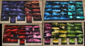 Mini Artomat Spacescapes 1151-1250 by crazycolleeny