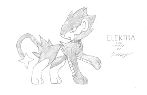 Elektra the Luxray by MikeGTS