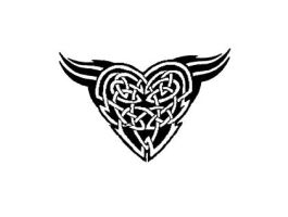 Celtic-meets-Tribal Heart by SkeOzz