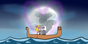 Queen Lisa x King Dice (Sailing) (Valentine's Day) by Fahad-Lami