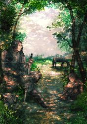 Arya and Sandor by Ysenna