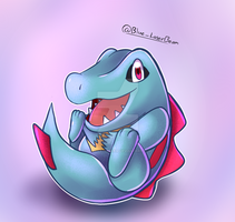 Happy Lil Totodile by Blue-Laserbeam