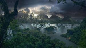 The Lost Temple - matte painting tutorial [FR] by DesignSpartan