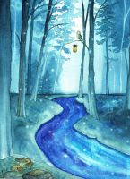 Starry river by KaritaArt