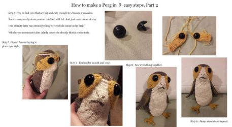 How to make a Porg in 9 easy steps. Part 2 by ryu-ren