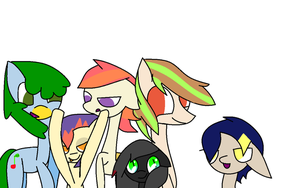 Psychosandwich's Mane 6 by theshadowpony357