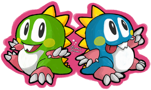 Bubble Bobble Brothers by Kanogetz
