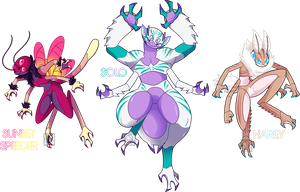 Arthridae Auction Adopts (CLOSED) by XombieJunky