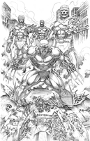 Wolverine vs. Sentinels by florencuevas