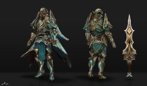 Paladin - Character Concept by Ron-faure