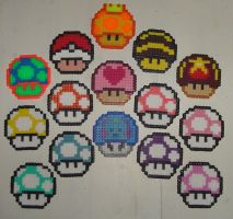 Hama Beads - 1up collection by acidezabs