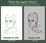 Draw This Again Meme: Genji by CloudDoodle