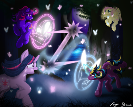 Showdown In The Everfree Forest by DSHooves
