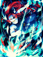 Undyne: Fights like Sushi by Invidiata
