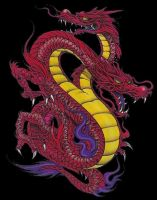 Red Two Headed Dragon by KapootMeister