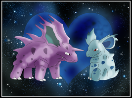 Nidorino and Nidorina