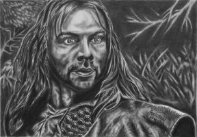 Aidan Turner as Kili by GizTheGunslinger