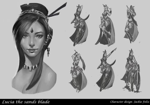 Lucia the sands blade sheet 1 by Jackiefelixart