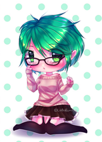 Glasses (OC) [REDRAWING] by AKIMI--CHAN