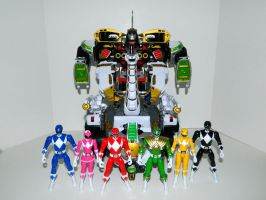 Rangers and Ultrazord 1 by LinearRanger