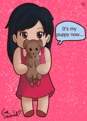 Cheryll With Puppy by LinkSketchit