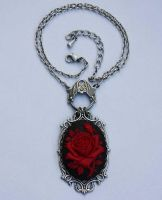 Rose cameo classic necklace by Pinkabsinthe