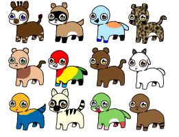 Bright Eyes Pets 10pt(3 4 8 9 11 12 open) by katamariluv