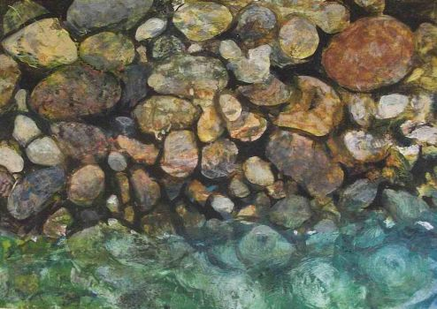 Experiment Beach Pebbles by johnstevensartist