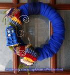 Doctor Who Tardis Wreath by RadioactiveArts