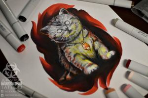 devil cat by ABYSS-TAT-2S