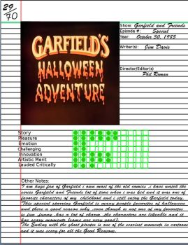 Admirable Notebook Garfield Halloween Adventure by kouliousis