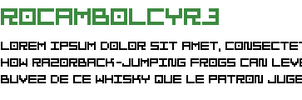 Rocambol font by ReSampled