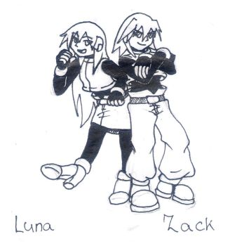 Megaman ZX - Zack and Luna by DragonLeeX3